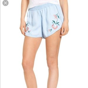 NEW • Rails • Liam Floral Embroidered Shorts Med